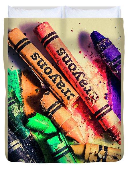 Breaking The Creative Spectrum Duvet Cover