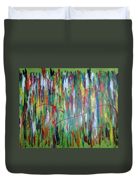 Breaking Through The Rainbow Of Pain Duvet Cover by The GYPSY And DEBBIE