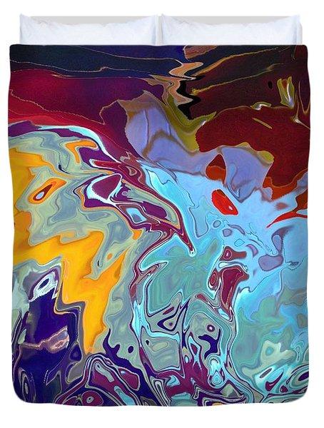 Breaking Waves Duvet Cover by Alika Kumar