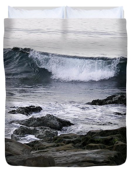 Duvet Cover featuring the photograph Breaking Waves by Carol  Bradley