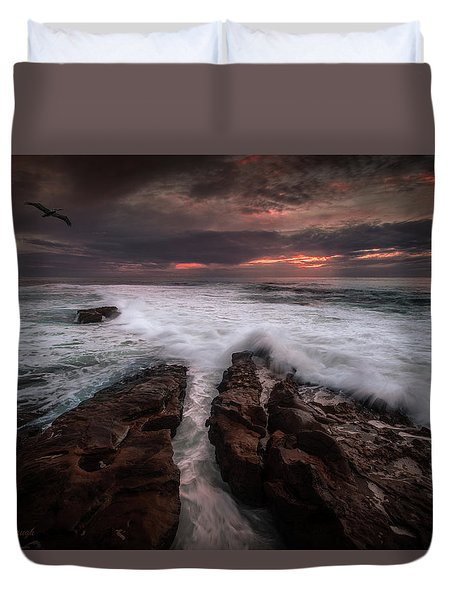 Breaking Waves, Signed Duvet Cover
