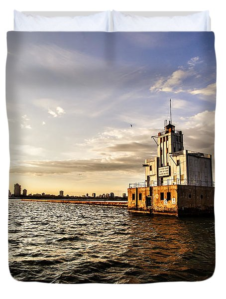 Breakwater Lighthouse Duvet Cover
