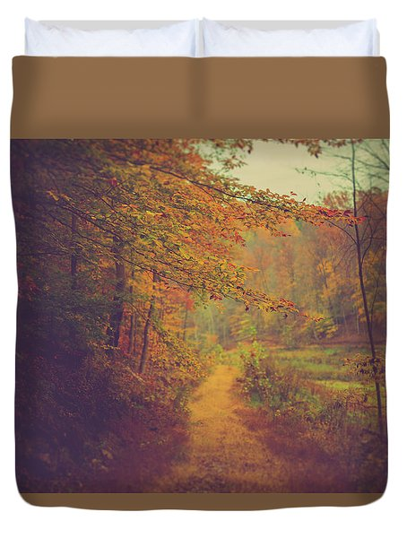Duvet Cover featuring the photograph Breathe In Autumn by Shane Holsclaw