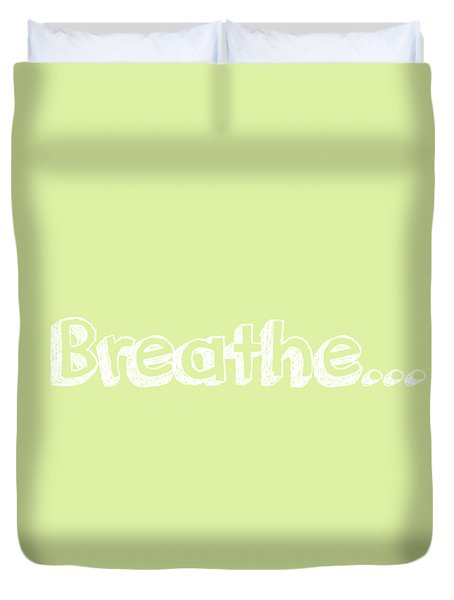 Breathe - Customizable Color Duvet Cover by Inspired Arts