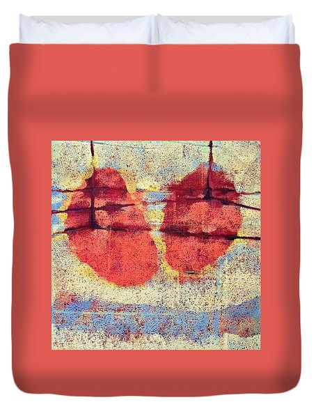 Breathe Duvet Cover by Maria Huntley
