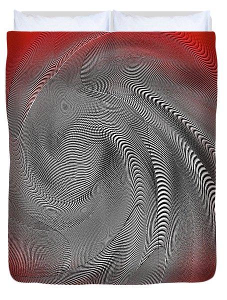 Duvet Cover featuring the digital art Breathing Heart by Visual Artist Frank Bonilla