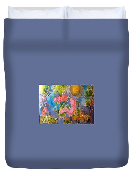 Breathing In The Sunlight Duvet Cover by Judith Desrosiers