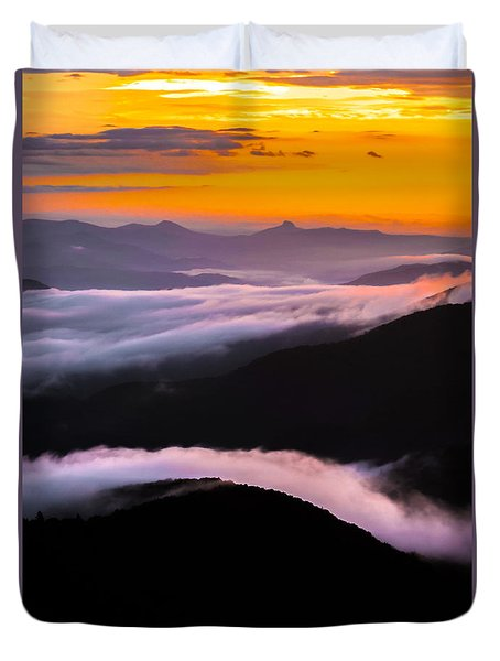 Breatthtaking Blue Ridge Sunrise Duvet Cover by Serge Skiba