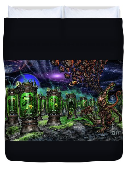 Breeding On Other Lands Duvet Cover