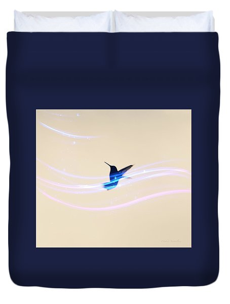 Duvet Cover featuring the photograph Breeze Wings by Debra     Vatalaro
