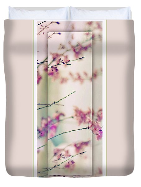 Duvet Cover featuring the photograph Breezy Blossom Panel by Jessica Jenney