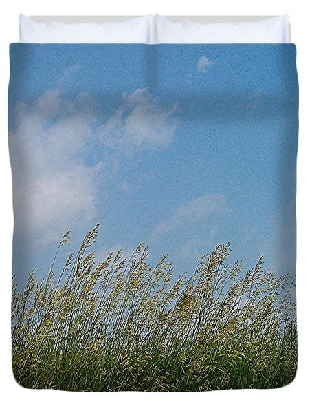 Duvet Cover featuring the photograph Breezy Day by Sara  Raber