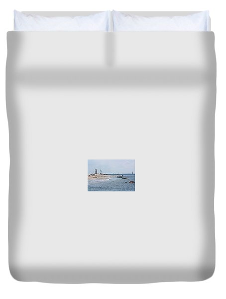 Breezy Point Lighthouse Duvet Cover