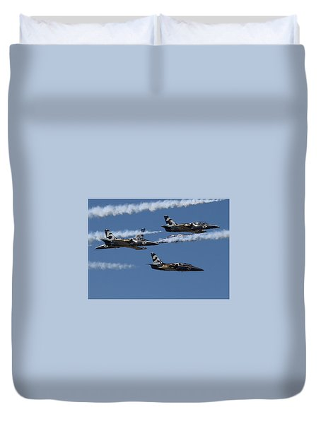 Duvet Cover featuring the photograph Breitling Convergence by John King