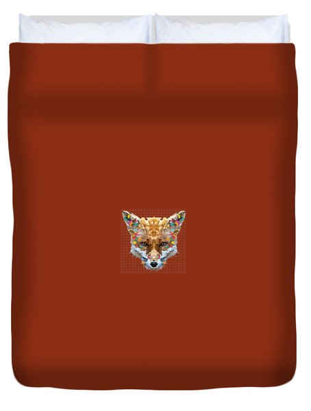 Brerr Fox T-shirt Duvet Cover by Herb Strobino