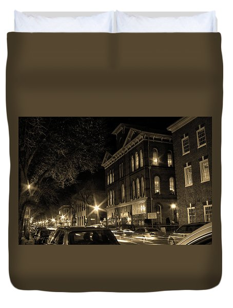 Duvet Cover featuring the photograph Market Street by Robert Geary