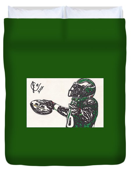 Brian Westbrook 2 Duvet Cover by Jeremiah Colley