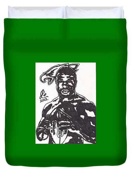 Brian Westbrook Duvet Cover by Jeremiah Colley