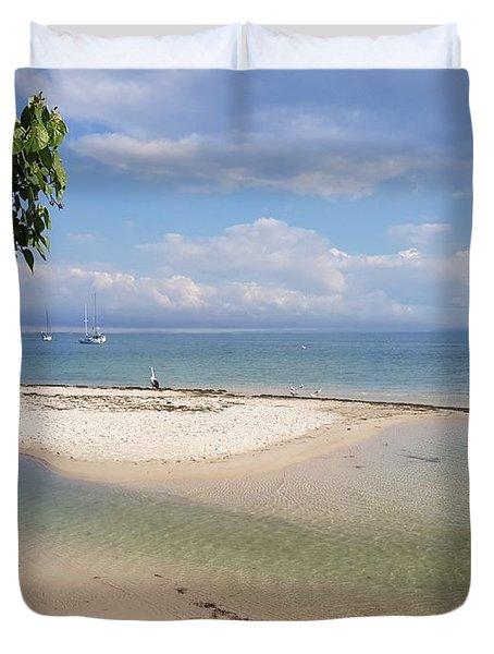Bribie Island  Duvet Cover