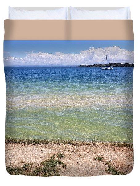 Bribie Ocean  Duvet Cover