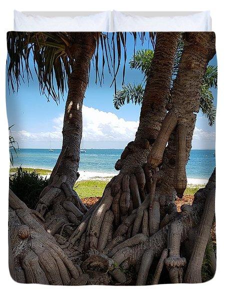 Bribie Trees  Duvet Cover