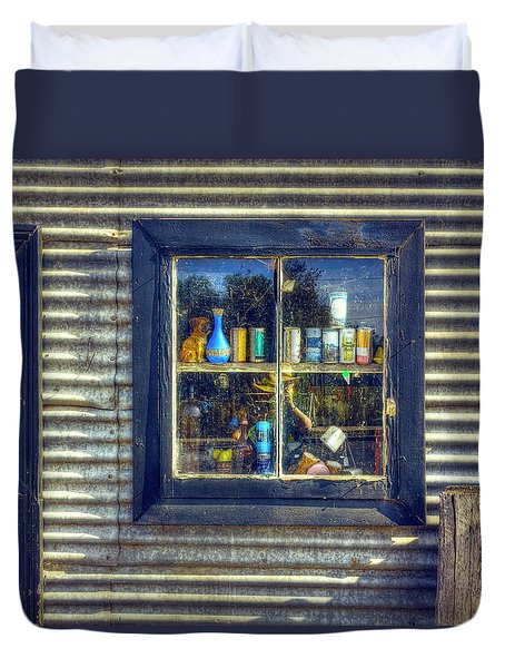 Duvet Cover featuring the photograph Bric-a-brac by Wayne Sherriff
