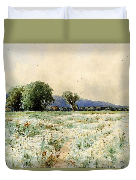 Bricher Alfred Thompson The Daisy Field Duvet Cover