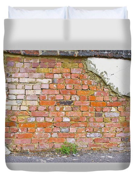 Duvet Cover featuring the photograph Brick And Mortar by Wanda Krack