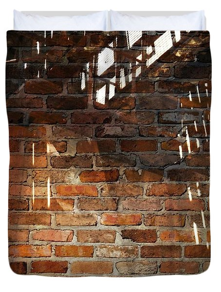 Brick And Rust Duvet Cover