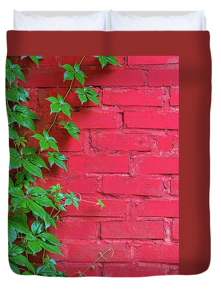 Duvet Cover featuring the photograph Brick And Vines by Richard Rizzo