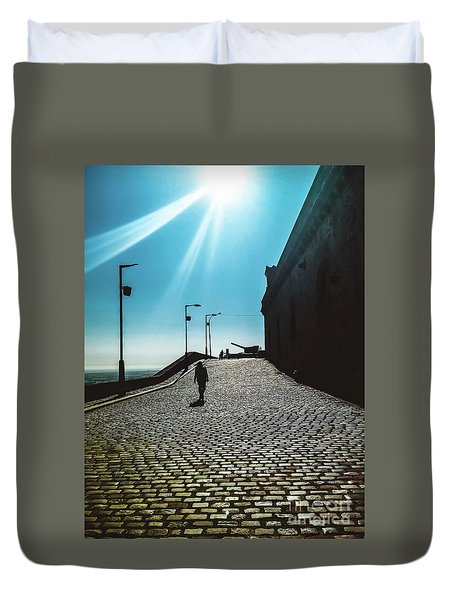 Duvet Cover featuring the photograph Brick By Brick by Colleen Kammerer