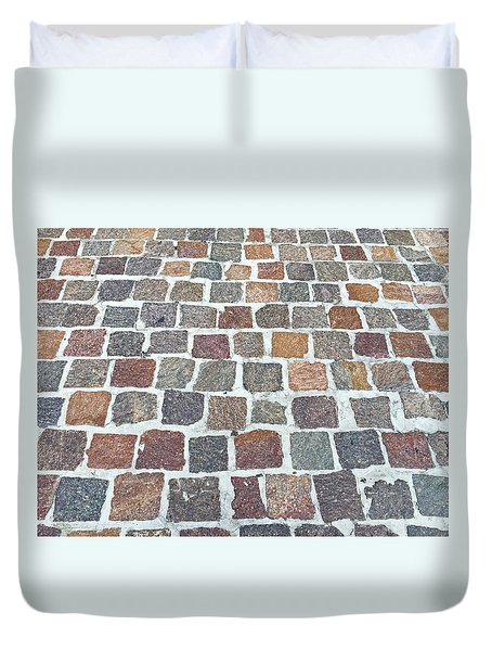 Brick By Brick Duvet Cover by Russell Keating
