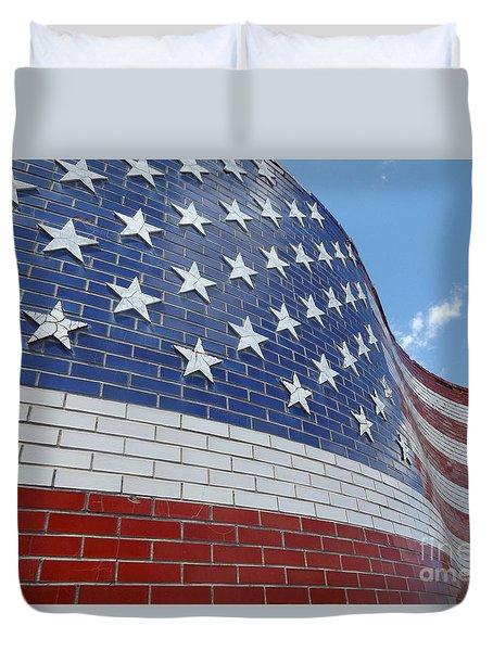 Brick Flag Duvet Cover by Erick Schmidt
