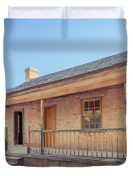 Brick Frontier Home At The Grafton Ghost Town Duvet Cover