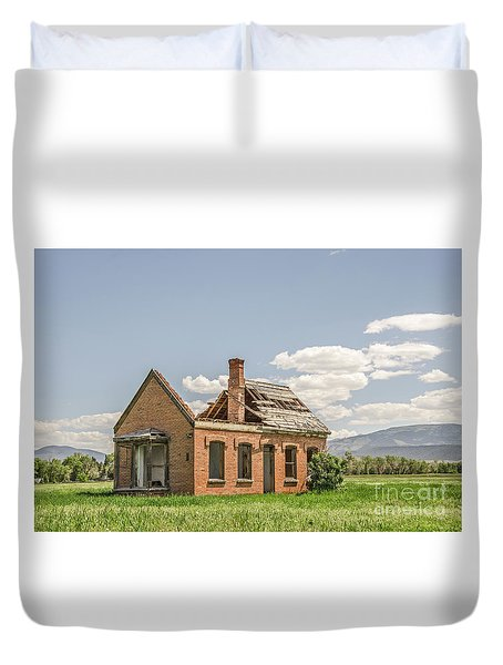 Duvet Cover featuring the photograph Brick Home In June 2017 by Sue Smith