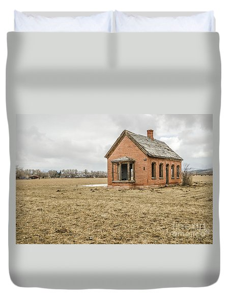 Duvet Cover featuring the photograph Brick Home In November 2015 by Sue Smith