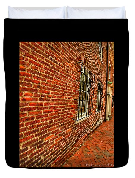 Brick Houses Duvet Cover