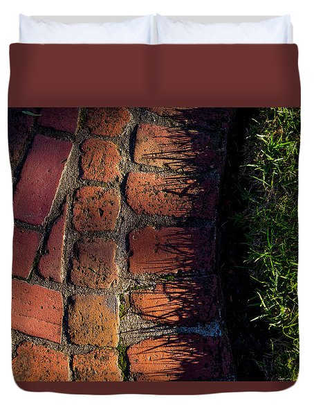 Brick Path In Afternoon Light Duvet Cover