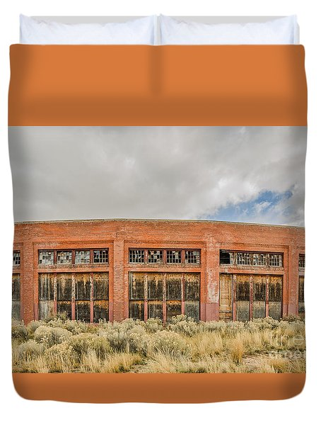 Brick Roundhouse Duvet Cover by Sue Smith