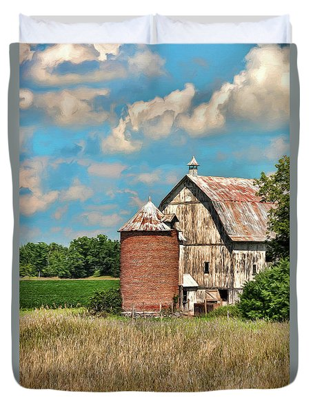 Brick Silo Duvet Cover by Trey Foerster