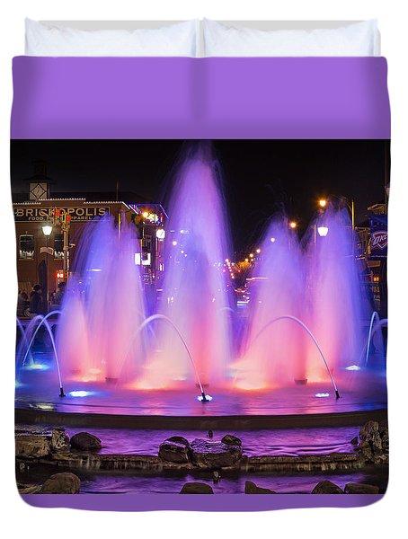 Bricktown Fountain Duvet Cover