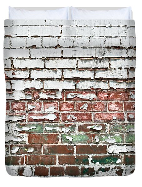 Duvet Cover featuring the photograph Brickwork 02 by Greg Jackson