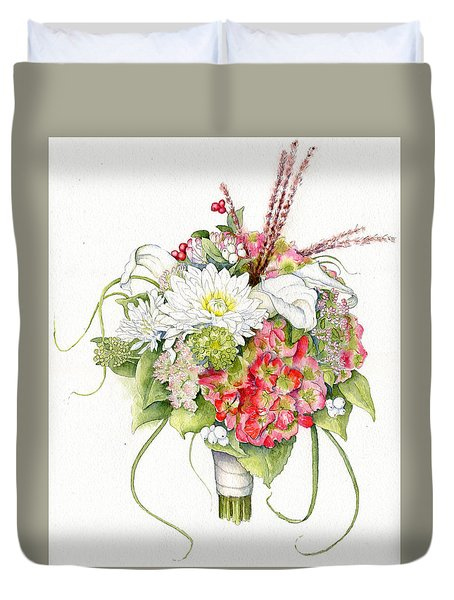 Bridal Bouquet Duvet Cover