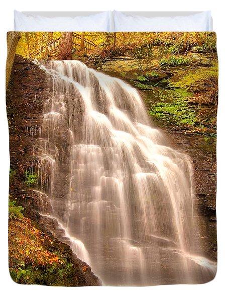Bridal Veil Falls Duvet Cover by Nick Zelinsky