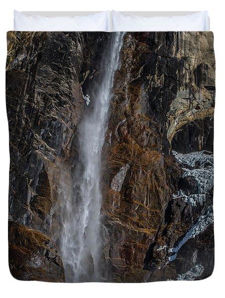 Bridal Veil Falls On Ice Duvet Cover