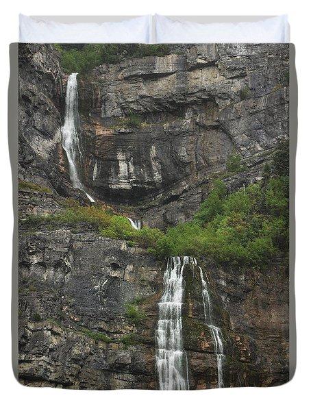 Bridal Veil Falls Provo Canyon Utah Fine Art Photograph Duvet Cover