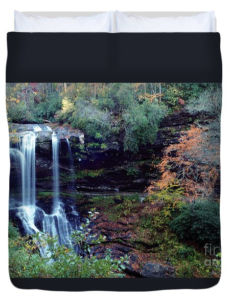 Bridal Veil Waterfalls Duvet Cover
