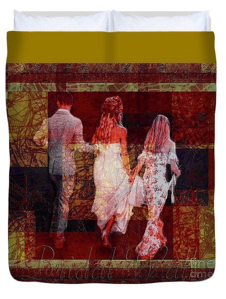 Duvet Cover featuring the photograph Bridal Walk by Lance Sheridan-Peel