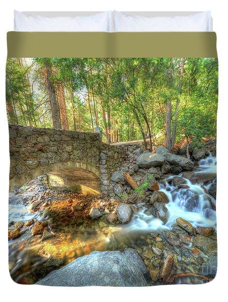 Bridalveil Creek At Yosemite By Michael Tidwell Duvet Cover