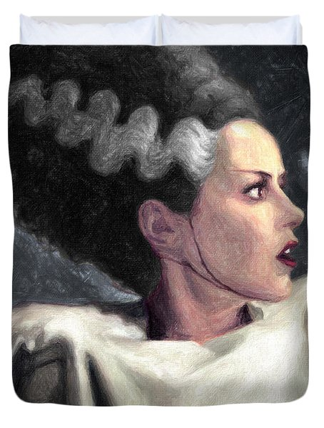 Bride Of Frankenstein Painting By Taylan Apukovska